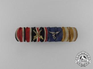 A Second War German Luftwaffe Long Service Medal Ribbon Bar