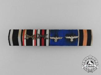 A First & Second War German Wehrmacht Long Service Ribbon Bar