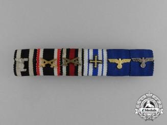 A Fine German Baltic Cross & Wehrmacht Long Service Ribbon Bar