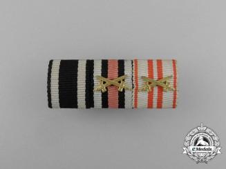 A First War Austrian War Service Medal Ribbon Bar