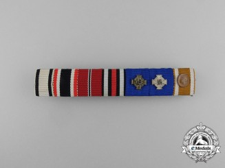A First & Second War Non Combatant & Civil Faithful Service Ribbon Bar