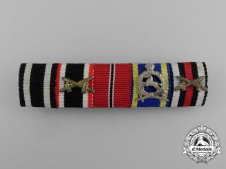 A First & Second War German Ernst-August War Cross Medal Ribbon Bar