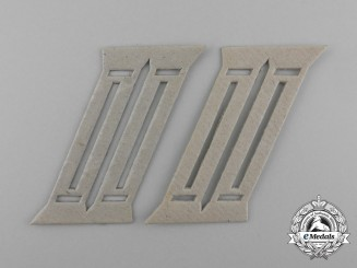 A Set of Second War German Wehrmacht Officer's Collar Tab Templates