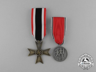 A Grouping of A War Merit Cross Second Class and a Austrian Anschluss Medal