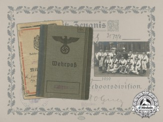 An Extensive First War U-Boat Document Group of Willi Schulz