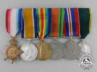 A First War Efficiency Medal Grouping to Sapper Hamlet Hope, Royal Engineers