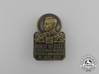 A 1933 Nürnberg Unveiling of the Horst Wessel Memorial Badge by Karl Wurster