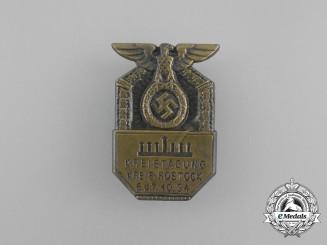 A 1934 Rostock Regional Meeting Badge