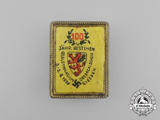 A 1937 100-Year Anniversary of the Oberrealschule Giessen Badge by Stuco