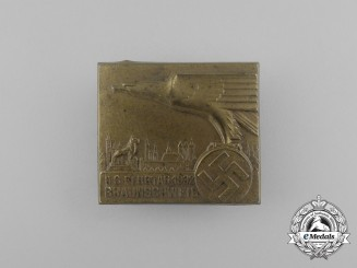 A 1932 National Socialist Braunschweig Day of Flight Badge by Wächtler & Lange
