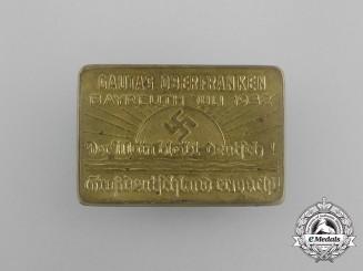 "A 1932 Bayreuth ""The Main remains German! Greater German Awakes"" Badge"