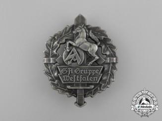 A Fine Quality Third Reich Period SA Group Westfalen Rally Badge