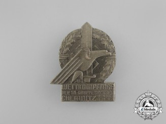 A 1938 SA Group Saxony Championships in Chemnitz Badge by E.O Friedrich of Leipzig