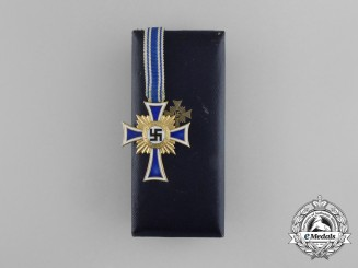 A Cased Third Reich Period 1st Class Cross of Honour of the German Mother by Richard Sieper