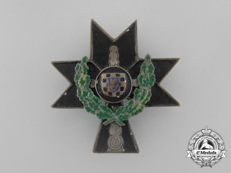 Croatia, Independent State. An Order of Iron Trefoil 1941-45, II Class with Oakleaves