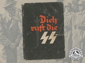 A 1942 Waffen-SS Recruitment Booklet with Career Possibilities and Application Form