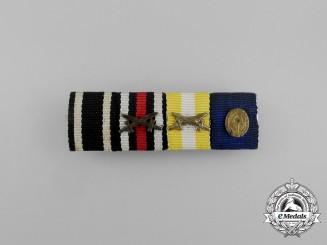 A German Langsalzer Medal and RAD Long Service Medal Ribbon Bar