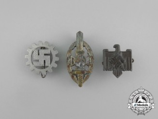 A Grouping of Three Second War German Membership Badges