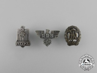A Grouping of Three Second War German Badges