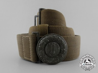 A 1941 Wehrmacht Heer Officer's Tropical Belt & Buckle by G. Reinhart of Berlin