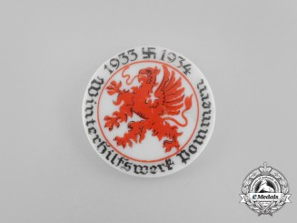 A 1933/34 Pommern WHW (Winter Relief of the German People) Donation Badge