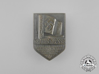 A 1934 German Exhibition Week in Mannheim Badge