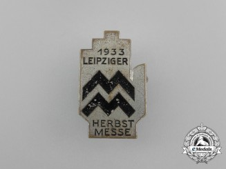 A 1933 Leipzig Autumn Exhibition Badge