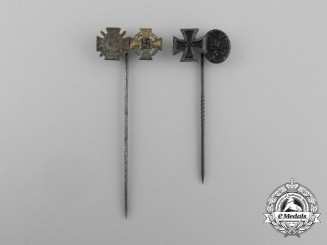 Two First and Second War German Award Stick Pins