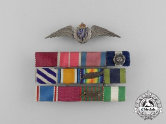 A Ribbon Bar Attributed to Air Vice Marshal Ronald Graham; RNAS