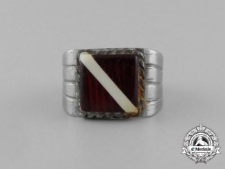A Second War German Latvian Trench Art Ring
