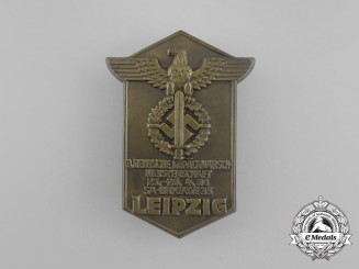 A 1936 Leipzig SA Brigade 35 3rd Deutsche Gepäckmarsch Meisterschaft Badge