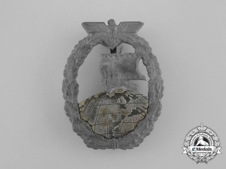 A Second War German Kriegsmarine Auxiliary Cruiser Badge