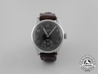 A Wehrmacht-Issue Record Watch Co. Service Wrist Watch