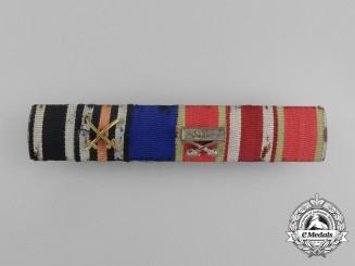 A Fine First War Turkish & German Ribbon Bar