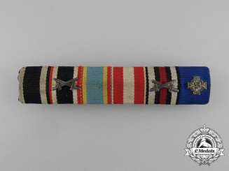 A First and Second War German Medal Ribbon Bar of Six Ribbons