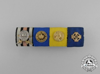 A First War Army Long Service in the Reserves Ribbon Bar