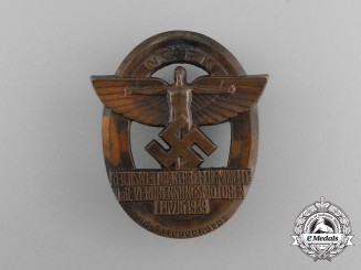 A 1939 NSFK National Championships of Motorized Model Airplanes Badge