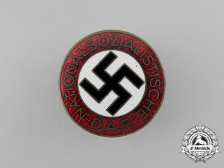 A NSDAP Party Member's Buttonhole Badge by Kerbach & Israel of Dresden