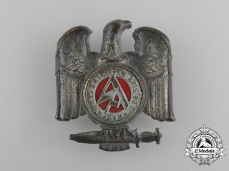 A 1935 Swabia SA Brigade 86 Meeting Badge by Carl Poellath of Schrobenhausen