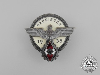 A 1938 Victors Badge of the Regional Level National Trade Competition Badge by G. Brehmer