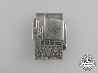 A Fine Quality 1934 Württemberg-Hohenzollern Regional Party Day Badge