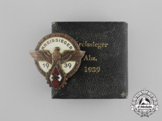 A Cased 1939 Victors Badge of the District Level National Trade Competition Badge