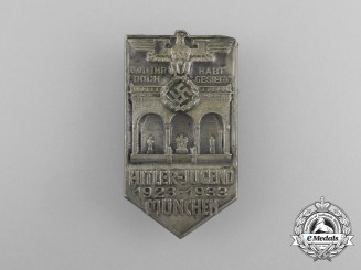 A 1933 10-Year Anniversary of the HJ in Munich Badge by Hermann Wittmann