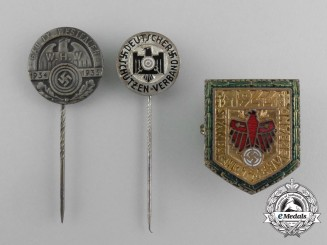 Three Third Reich Period Shooting Badges and Pins