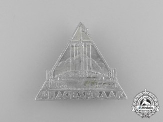 """A 1939 NSB (National Socialist Movement in the Netherlands"""" Unification Rally Badge"""
