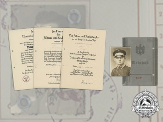 A Large Document Collection to Policeman & Gestapo member in Yugoslavia, Walter Heuer
