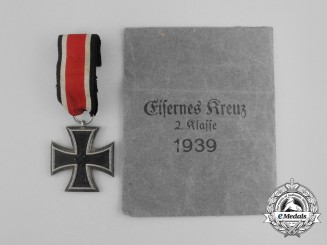 An Iron Cross 1939 Second Class in its Original Packet of Issue by Steinhauer & Lück