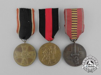 Three Third Reich German Medals, Awards, and Decorations