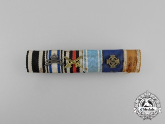 A First War Bavarian Military Merit Orderand Long Service Medal Ribbon Bar