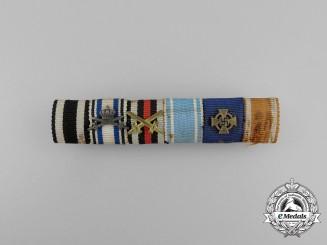 A First War Bavarian Military Merit Orderand Long Service Medal Ribbon Bar